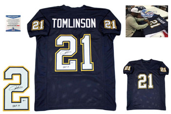 Ladainian Tomlinson Autographed Signed Custom Jersey - Beckett Authentic - NVY