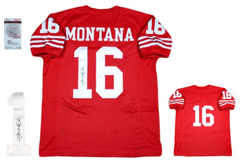 Joe Montana Autographed SIGNED Jersey - JSA Authenticated - Red - SF