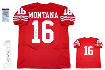 Joe Montana Autographed SIGNED Jersey - JSA Authenticated - Red - SF