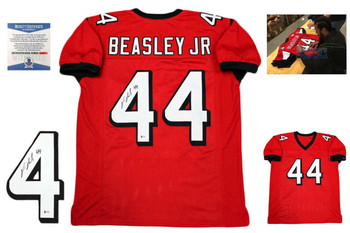 Vic Beasley Autographed Signed Jersey - Beckett Authentic - Red