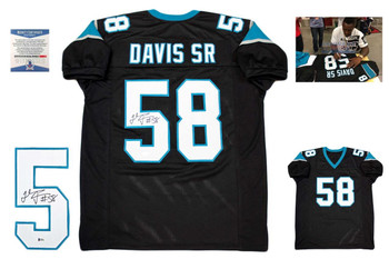 Thomas Davis Autographed Signed Jersey - Black - Beckett Authentic