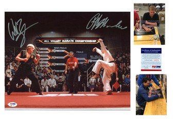 Ralph Macchio and William Zabka Signed Karate Kid 16x20 Photo - PSA DNA