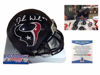 Deshaun Watson Autographed Signed Houston Texans Mini Helmet - Beckett Authentic