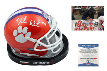 Deshaun Watson Signed Clemson Tigers Mini Helmet - Beckett Authentic