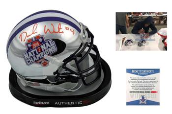 Deshaun Watson Autographed Signed Clemson Tigers Chrome Mini Helmet