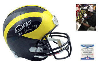 Desmond Howard Autographed Signed Michigan Wolverines Full Size Rep Helmet