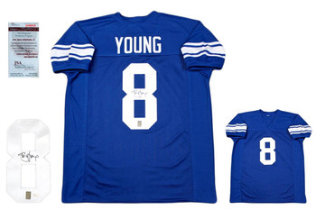 Steve Young Autographed Signed Jersey - JSA Authentic - Blue