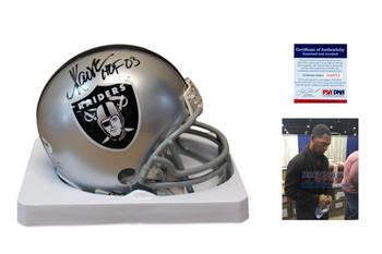 Marcus Allen Autographed Signed Oakland Raiders Mini Helmet - HOF - PSA