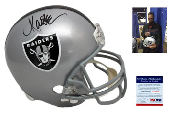 Marcus Allen Autographed Signed Oakland Raiders Full Size Helmet - PSA