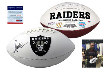 Marcus Allen Autographed Signed Oakland Raiders Logo Football - PSA Authentic