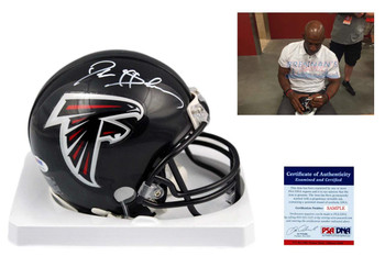 Deion Sanders Autographed Signed Atlanta Falcons Mini Helmet - PSA