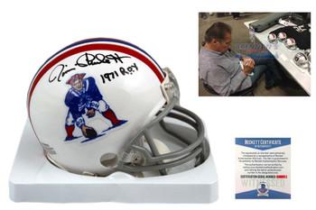 Jim Plunkett Autographed New England Patriots Mini Helmet - Beckett Authentic