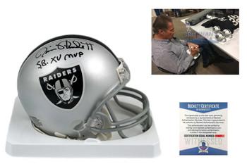 Jim Plunkett Autographed Signed Oakland Raiders Mini Helmet - Beckett Authentic - SB MVP
