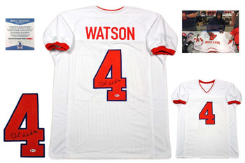 Deshaun Watson Autographed Signed Jersey - Beckett Authentic - White