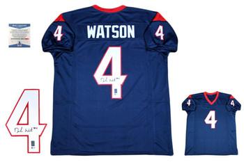 Deshaun Watson Autographed Signed Jersey - Navy - Beckett Authentic