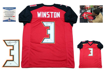 Jameis Winston Autographed SIGNED Jersey - Red -Beckett Authentic