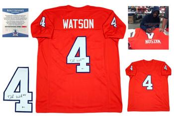 Deshaun Watson Autographed Signed Jersey - Beckett Authentic - Orange