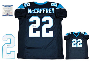 Christian McCaffrey Autographed Signed Jersey - Beckett Authentic - Black