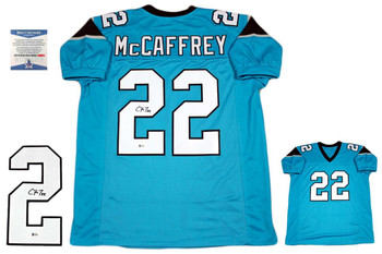 Christian McCaffrey Autographed Signed Jersey - Beckett Authentic - Blue