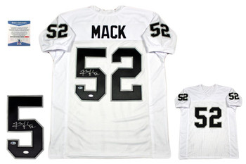 Khalil Mack Autographed Signed Jersey - Beckett - White