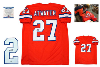 Steve Atwater Autographed Signed Jersey with Photo- Beckett - TB