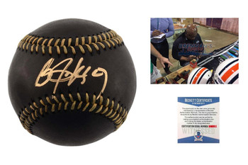 Bo Jackson Autographed SIGNED Rawlings Black Baseball - Beckett Authentic