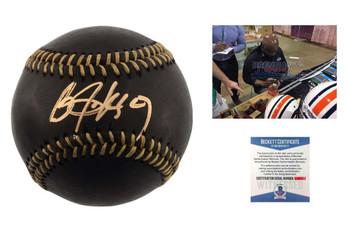 Bo Jackson Autographed SIGNED Rawlings Black Baseball - Beckett Authentic
