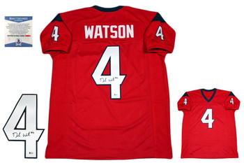 Deshaun Watson Autographed Signed Jersey - Beckett Authentic - Red