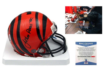 John Ross Signed Cincinnati Bengals Mini Helmet - Beckett Authentic