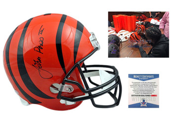 John Ross  Autographed Signed Cincinnati Bengals Full Size Helmet - Beckett Authentic
