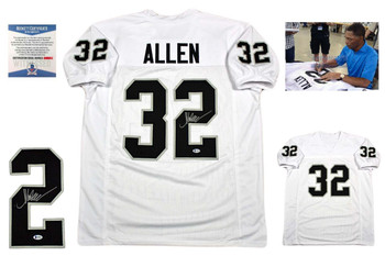 Marcus Allen Autographed Signed Jersey - Beckett Authentic - White