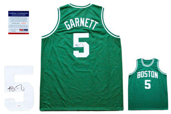 Kevin Garnett Autographed SIGNED Jersey - PSA DNA - Green
