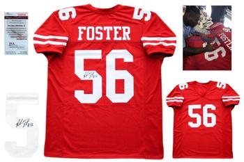 Reuben Foster Autographed SIGNED Jersey - JSA Witnessed - Red