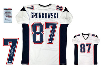 Rob Gronkowski Autographed Signed Jersey - JSA Witnessed - White