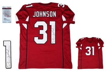 David Johnson Autographed Signed Jersey - JSA Witnessed - Red