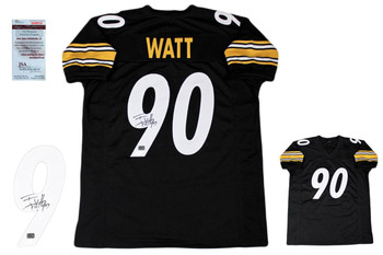 TJ Watt Autographed Signed Jersey - JSA Witnessed - Black