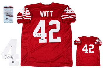 TJ Watt Autographed Signed Jersey - JSA Witnessed - Red