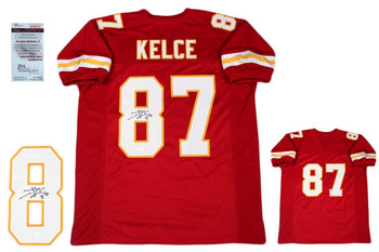 Travis Kelce Autographed Signed Jersey - JSA Witnessed - Red