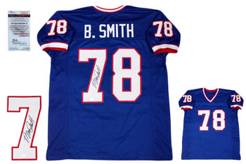 Bruce Smith Autographed Signed Jersey - Beckett Authentic - Royal