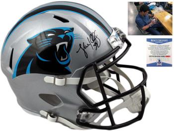 Carolina Panthers Luke Kuechly Autographed Signed Speed Helmet