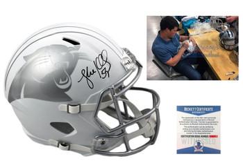 Luke Kuechly  Autographed Signed Carolina Panthers Full Size ICE Speed Helmet - Beckett Authentic