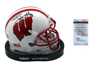 TJ Watt Autographed SIGNED Wisconsin Badgers Mini Helmet