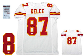 Travis Kelce Autographed Signed Jersey - JSA Witnessed - White