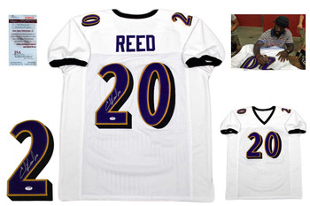 0641e43d8d3 Ed Reed Autographed Signed Jersey - JSA Witnessed Authentic - White