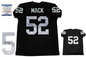 Khalil Mack Autographed Signed Jersey - Beckett - Black