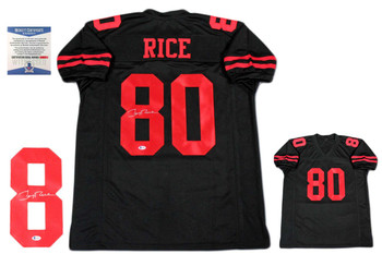 Jerry Rice Autographed Signed Jersey - Black