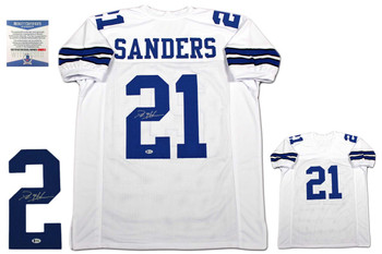 Deion Sanders Autographed Jersey - Beckett Authentic - White
