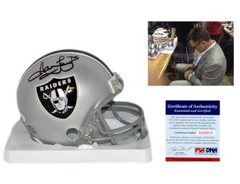 Howie Long Signed Mini Helmet - PSA - Oakland Raiders Autographed