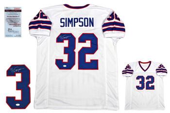 OJ Simpson Autographed Signed Jersey - JSA Witnessed - White