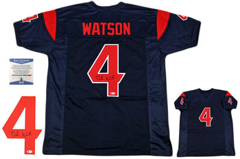 Deshaun Watson Autographed Jersey - Beckett Authentic - Color Rush